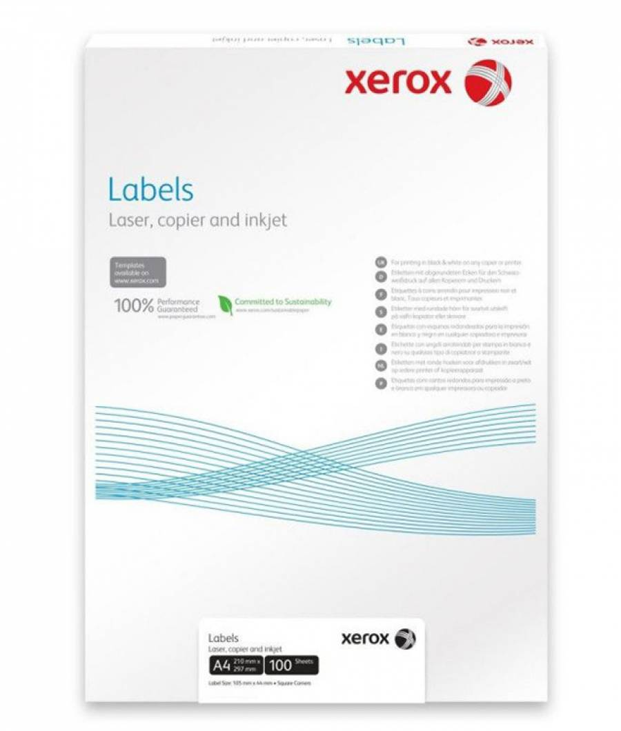 Etichete Universale Colturi Drepte Xerox