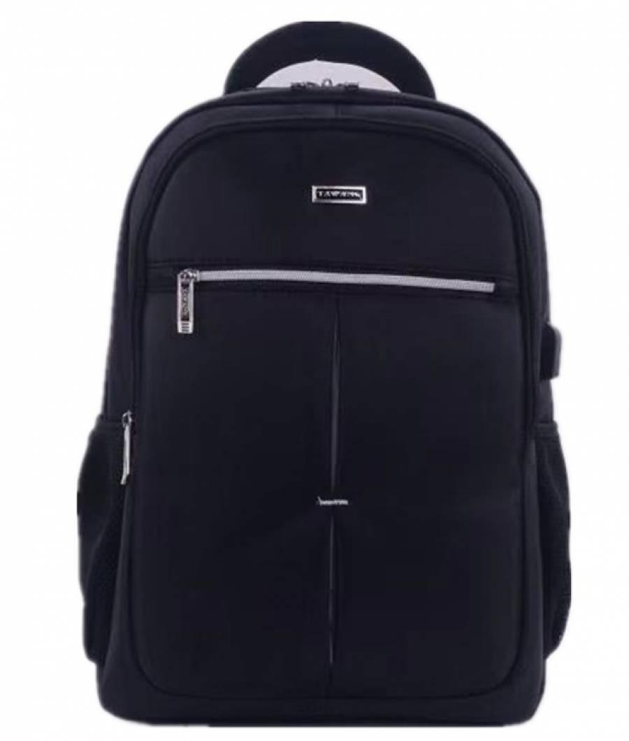Ghiozdan BLACK LAPTOP  48x32x18cm casti usb