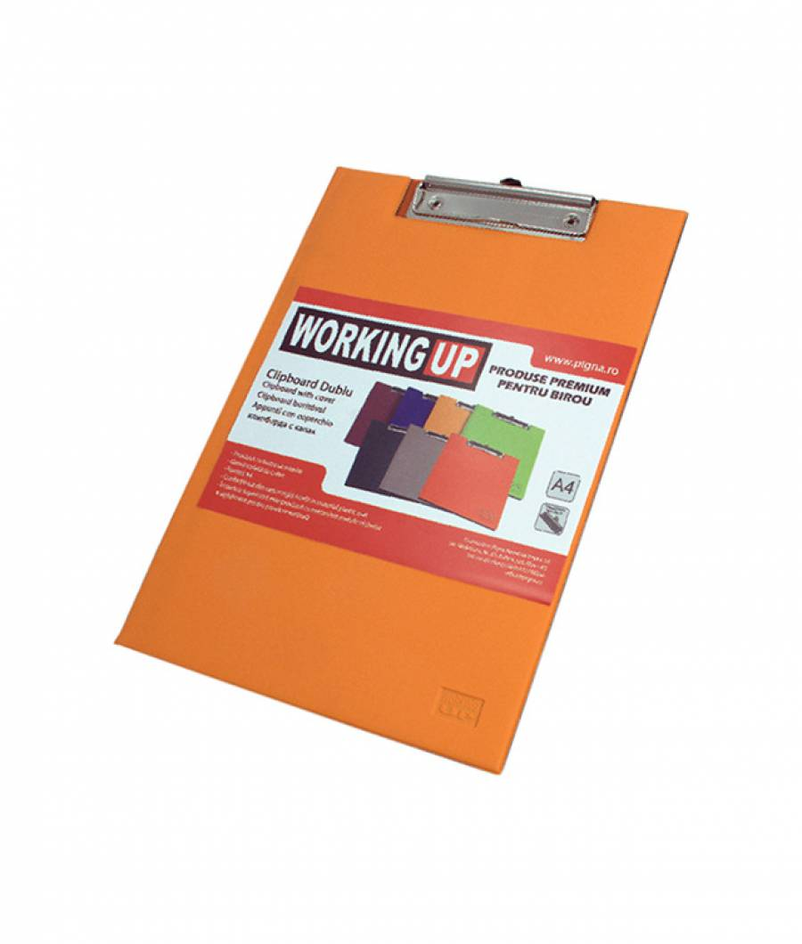 Clipboard dublu W-UP, orange