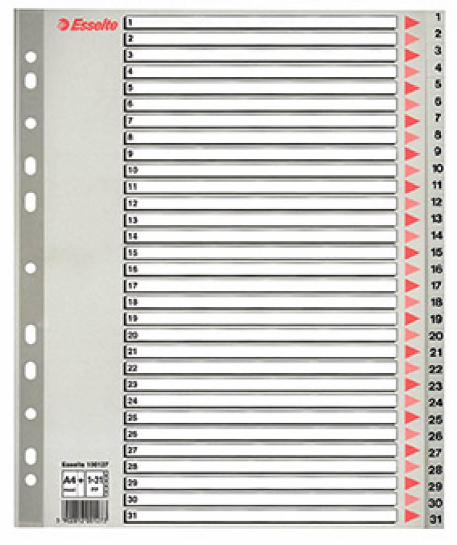 Separatoare Index Plastic Maxi Esselte