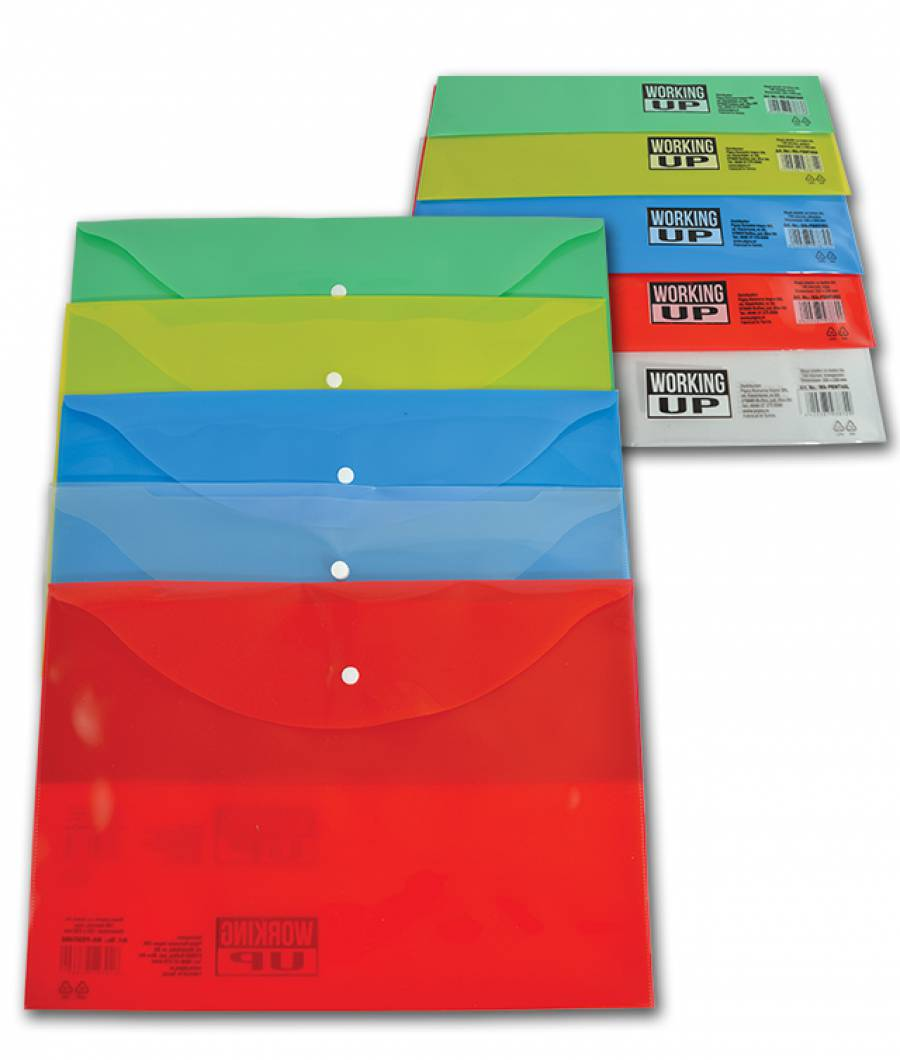 Mapa  plastic  cu buton A4, WUP 140mic Verde