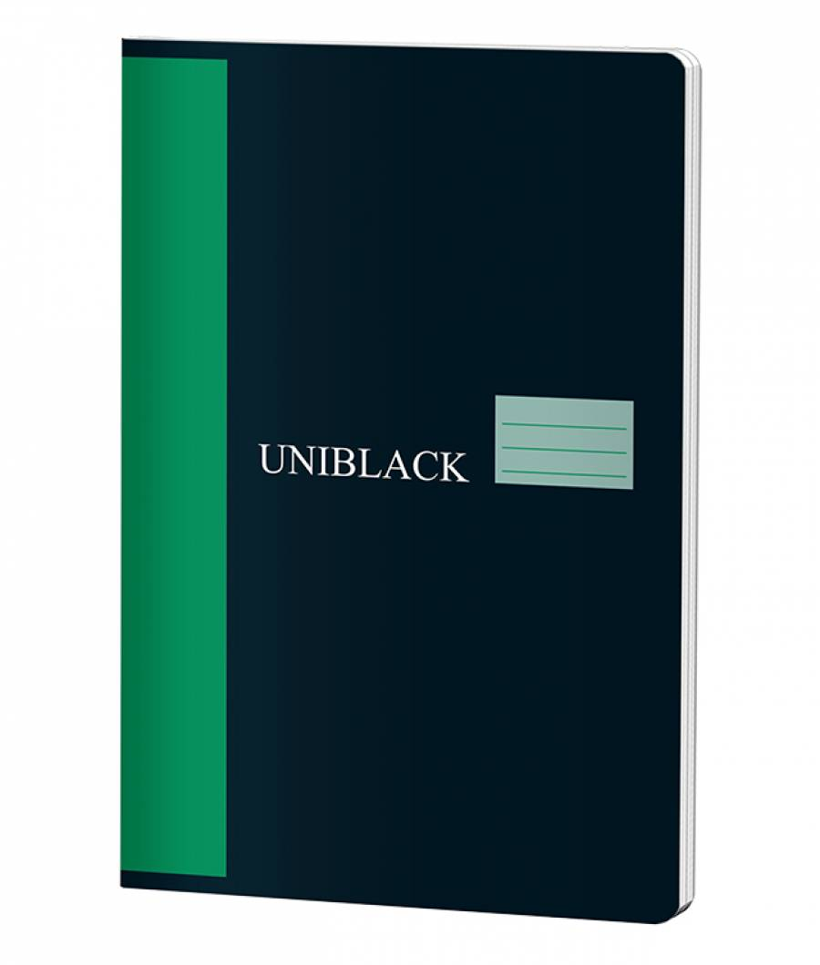 Caiet A4 60f D Uniblack 230gr coperta, 70gr interior, cop. verde