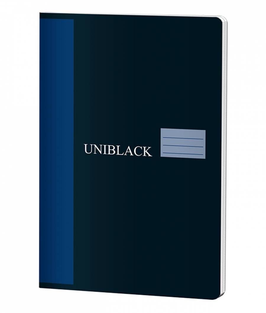 Caiet A4 60f M Uniblack 230gr coperta, 70gr interior, cop. albastra