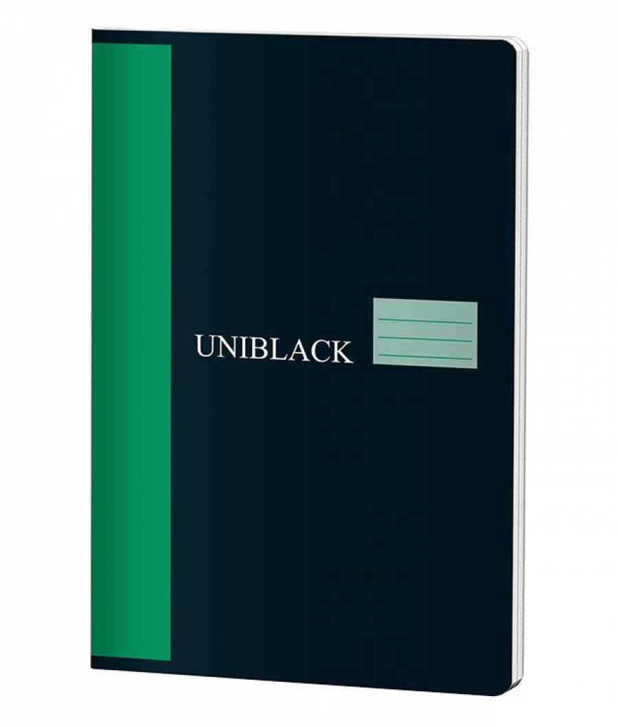 Caiet A4 60f M Uniblack 230gr coperta, 70gr interior, cop. verde