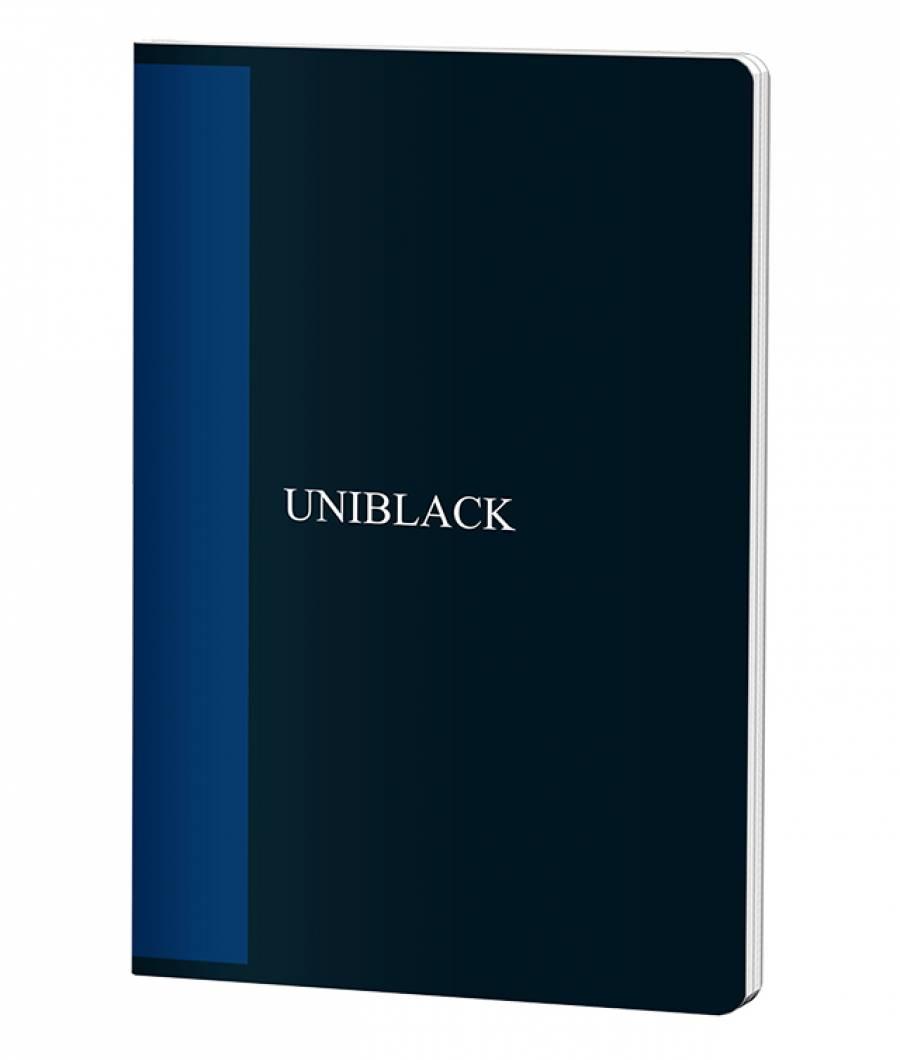 Caiet A4 60f D PP Uniblack 300 mic 70gr, cop. albastra