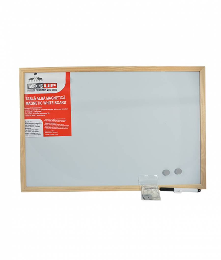 Whiteboard magnetic WorkingUp 60x40 cm