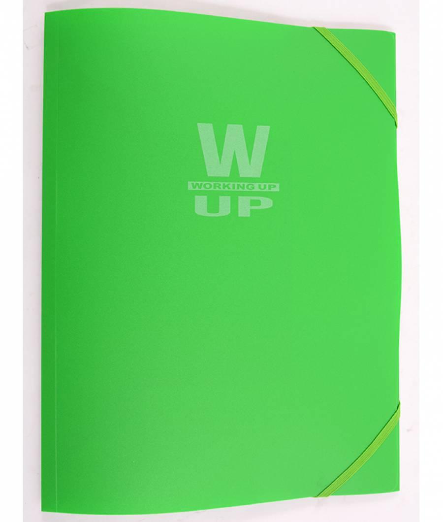 Mapa  plastic  cu elastic Working-Up 600mic verde